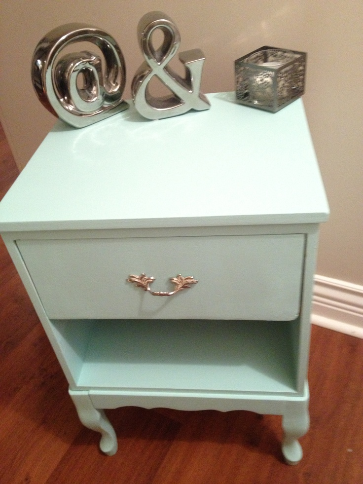 Light mint green night table