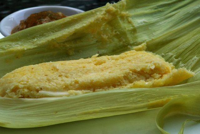 Humitas or steamed fresh corn cakes ... Humitas are savory cakes made ...