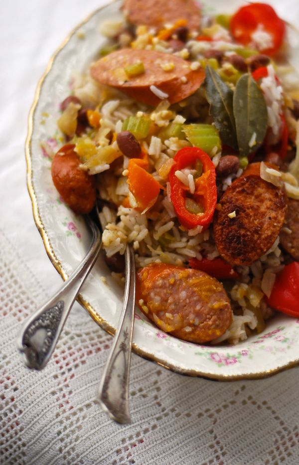 red beans and rice with andouille chicken sausage andouille sausage ...
