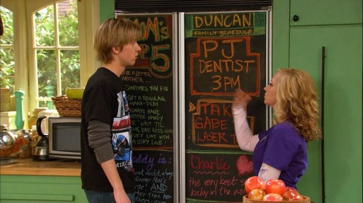 """Chalkboard Fridge..., """"good luck, Charlie."""""""