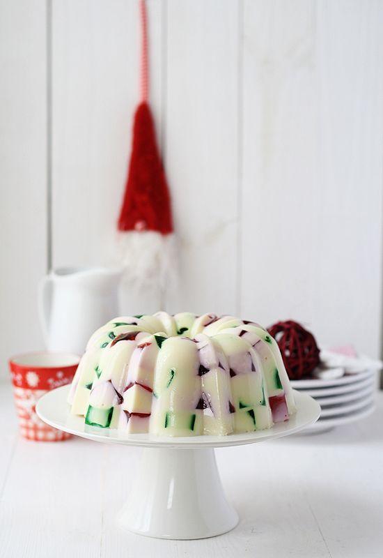 Christmas jello mold with sweetened condensed milk