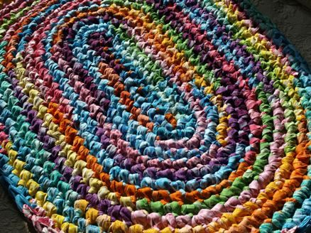 how to make an oval rag rug