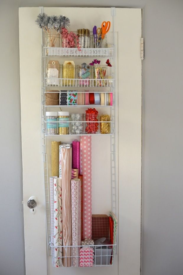 Diy gift wrapping station craft room ideals pinterest