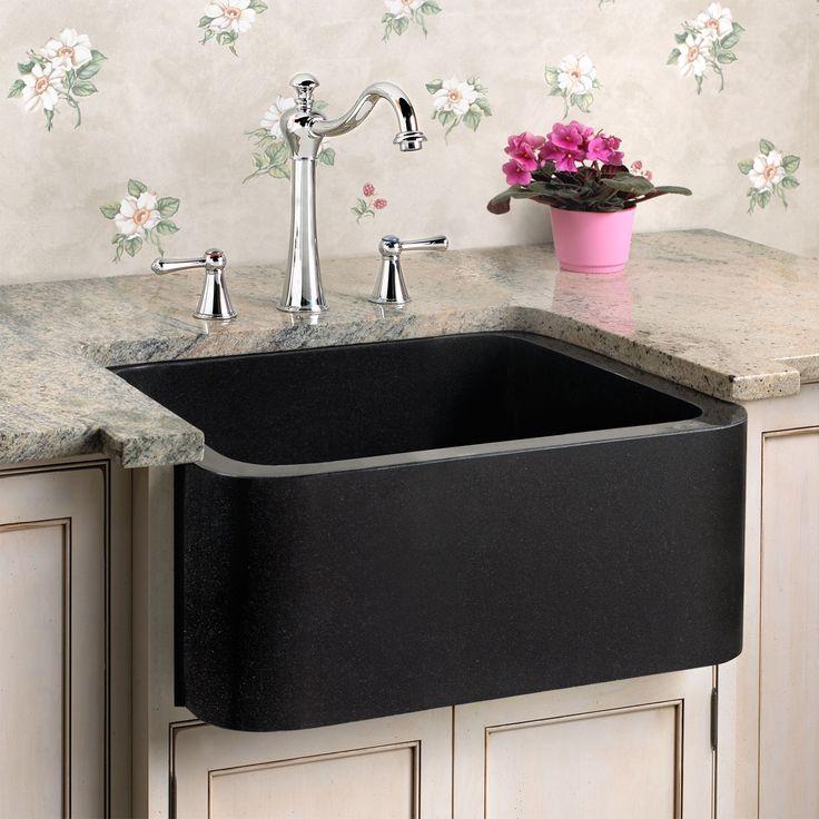 black farmhouse sink  Details about 18  Polished Granite Farmhouse