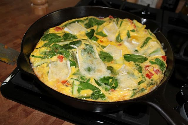 ... Have Eaten: Brie, Spinach, Smoked Salmon and Asparagus Frittata
