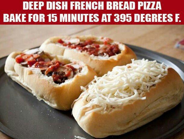 Deep Dish French Bread Pizza | Food | Pinterest