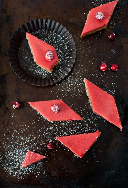 Cranberry Curd Bars & Walnut Shortbread Crust at Cooking Melangery by ...