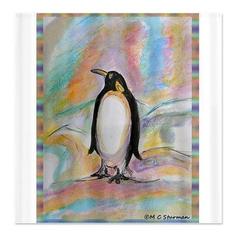 Penguin Colorful Wildlife Art Shower Curtain On