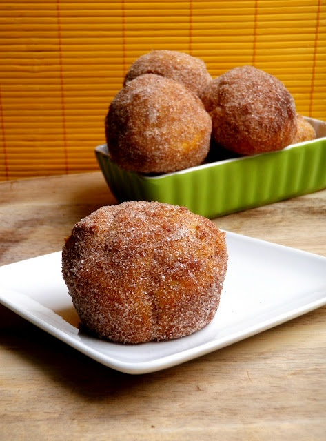 pumpkin donuts baked in muffin tins and other sweet breakfast goodies