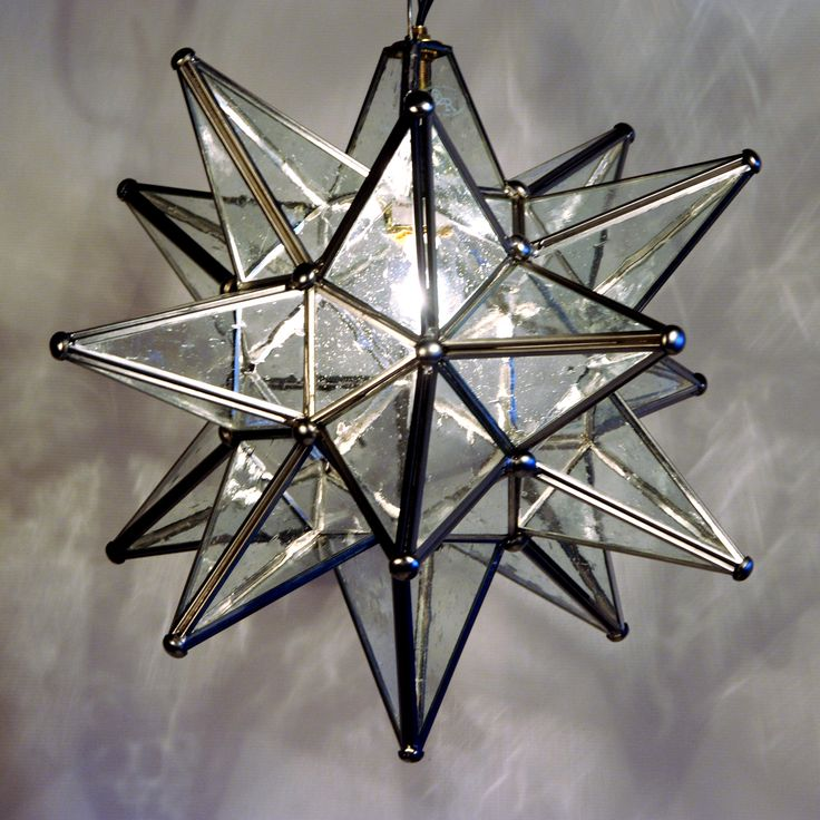 quintana roo 9640m ss glass moravian star pendant at atg stores. Black Bedroom Furniture Sets. Home Design Ideas