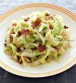... Journal - Come for Quick and Easy Recipes: Stir Fry Cabbage with Bacon
