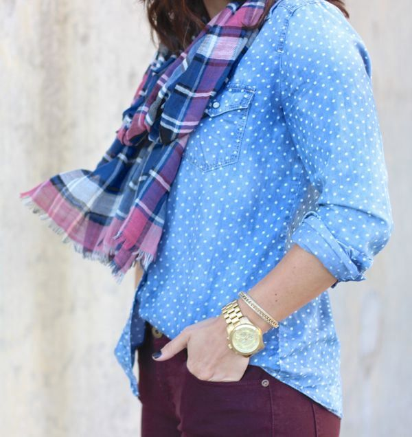 polka dots and a plaid scarf from @mystylevita