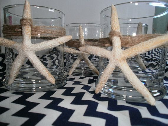 Nautical Wedding Glass Vases Beach Decor Nautical by tiasdresses.