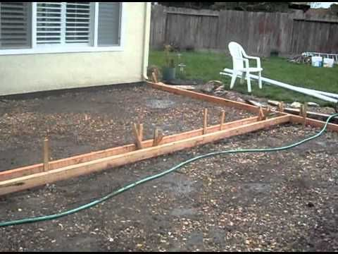 DIY How to pour a concrete patio Outdoor