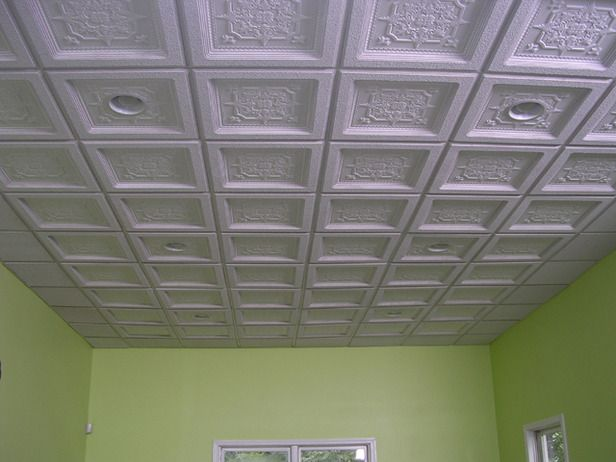 am not a fan of drop ceilings but this sound proof ceiling looks nice
