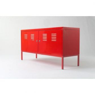 Ikea sideboard. Red. Metal.  For the Home  Pinterest