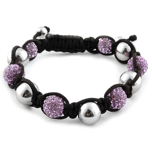 Liquidation Channel | Purple Austrian Crystal and Hematite Tranquility Bracelet