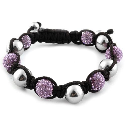 Liquidation Channel | Purple Austrian Crystal and Hematite Tranquility Bracelet