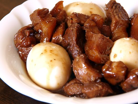 Humba - Filipino Braised Pork Stew with hard-boiled eggs. Delicious!