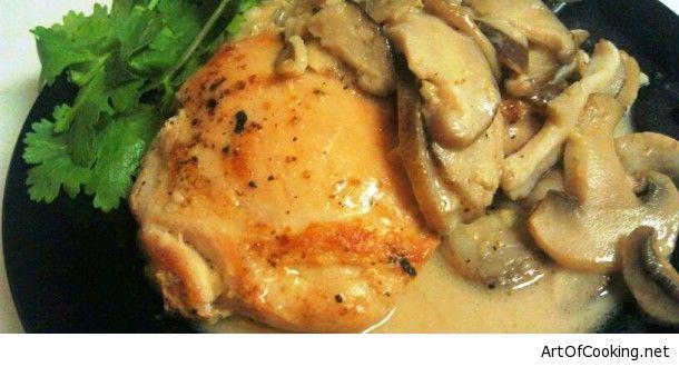 Coconut Ginger Mushroom Chicken Recipe | Recipes | Pinterest