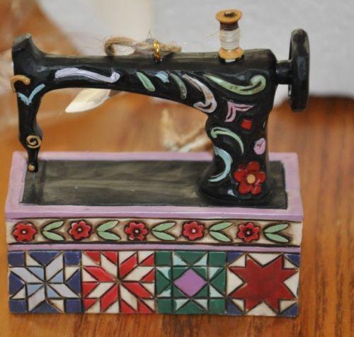 jim shore sewing machine ornament