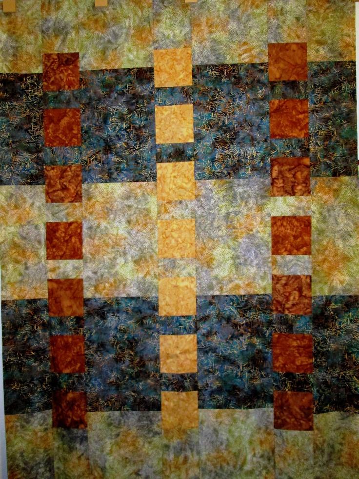 batiks in a modern quilt pattern | Quilts | Pinterest