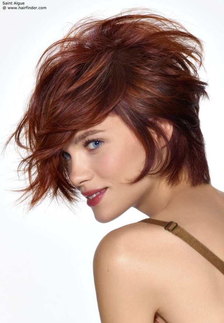 short purple hairstyles : short hairstyle that covers the neck