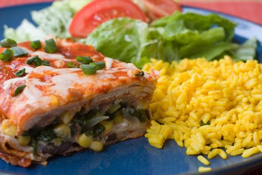 Vegetable Enchilada | Mexican Food | Pinterest