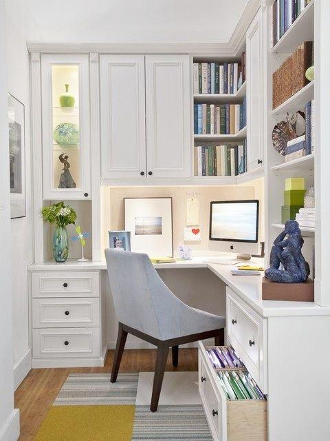 Office Nook Off Kitchen Home Garden Decorating Pinterest