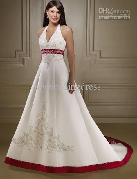 wedding dress with red trim my dream wedding one day reality pin