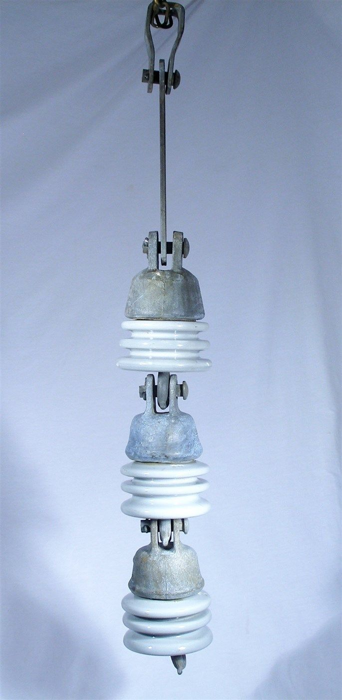 Pp Knox Porcelain Electrical High Voltage 5000 Test Triple Suspension