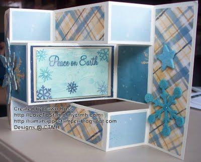 poster board ideas am a happy stamper tri fold shutter card