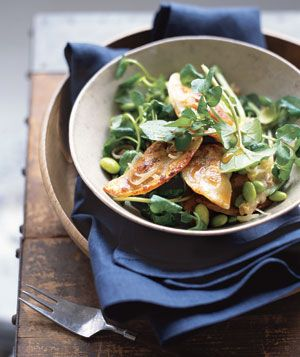 Pan-Seared Dumpling Salad|Top a salad with frozen pot stickers for a ...