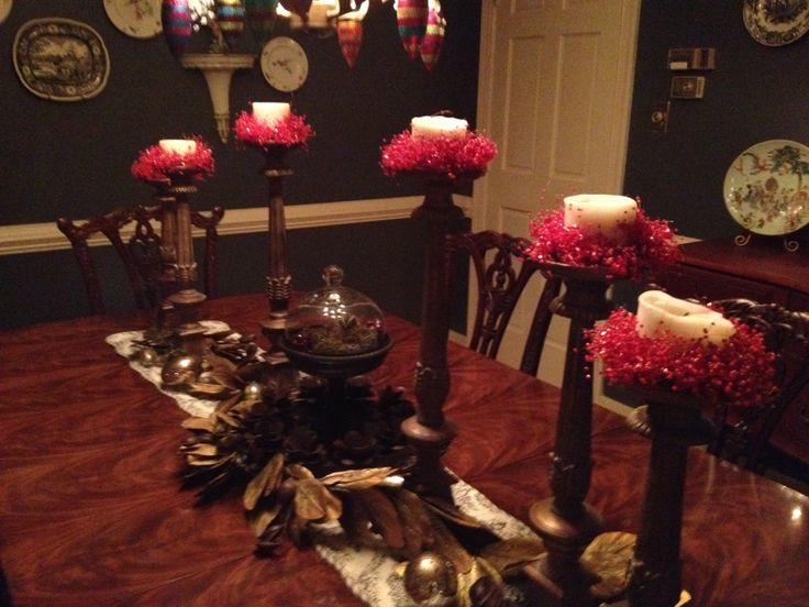 My dining room table | Holiday Decorations | Pinterest