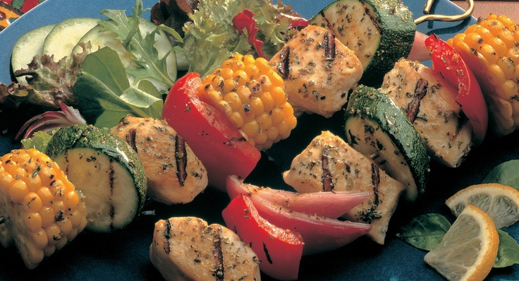 Grilled Chicken and Vegetable Kabobs | Recipe