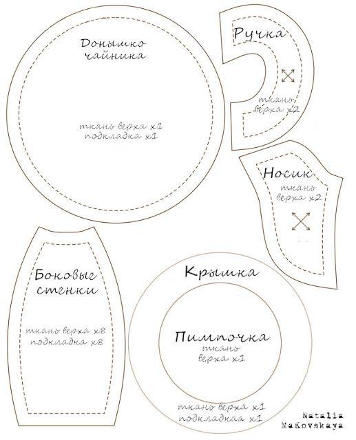 Как сшить чайник выкройка 159