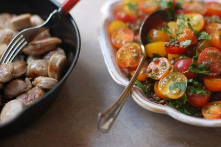 must try this tomato amp lentil salad pair with slow roasted sausages ...
