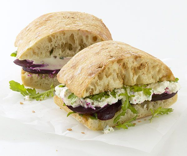 Roasted Beet Sandwiches with Herbed Goat Cheese by Fine Cooking