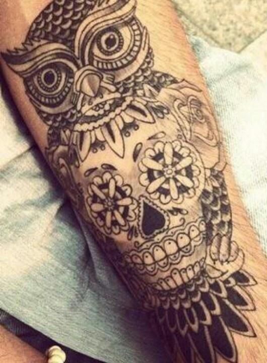 Animal sugar skull tattoo - photo#2