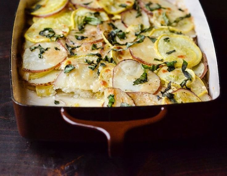 Potato, Squash, and Goat Cheese Gratin