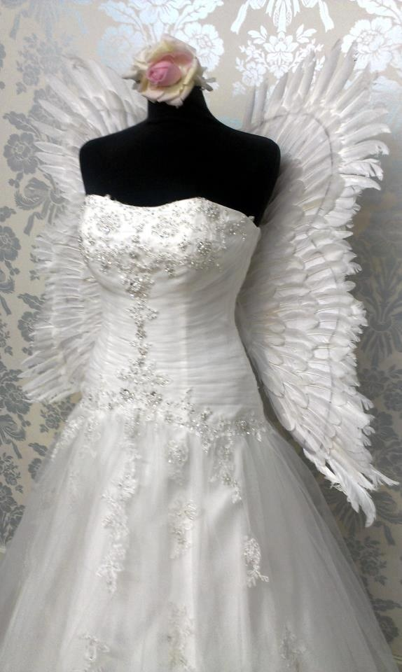 angel wings wedding dress beautiful angel halo ForAngel Wings Wedding Dress