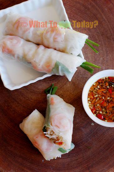 GOI CUON/ VIETNAMESE SPRING ROLL ( 12 spring rolls)   Recipe