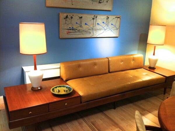 sofa side table combo with lamps mcm vintage pinterest. Black Bedroom Furniture Sets. Home Design Ideas