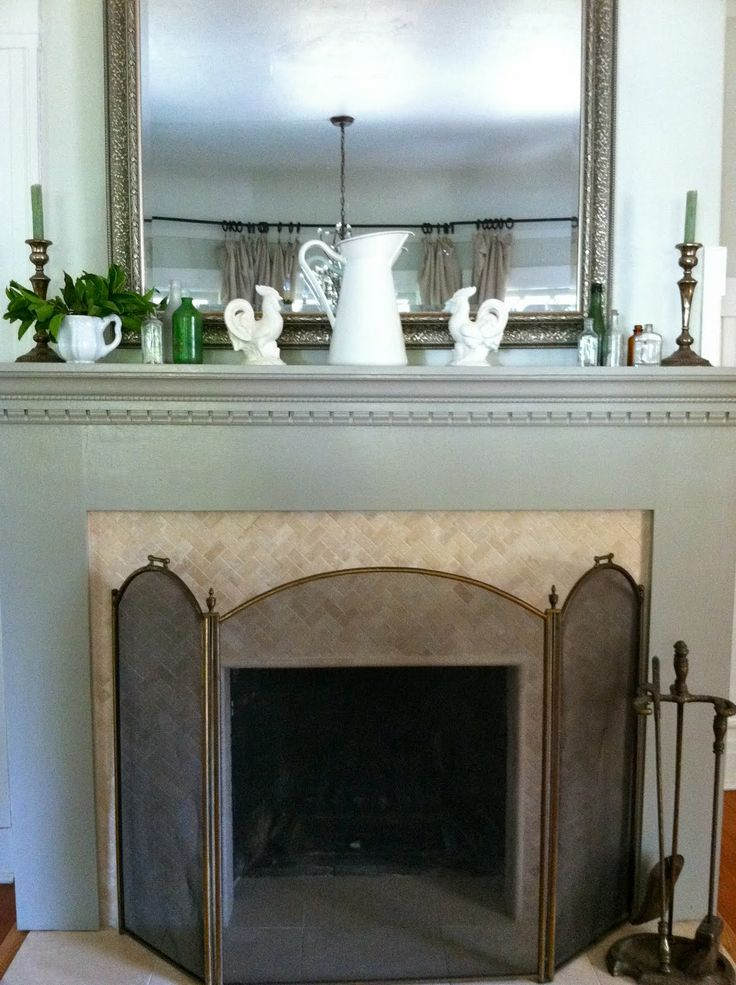 Herringbone Tile Fireplace Google Search
