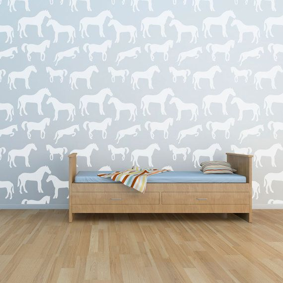 Horse Wall Stencil by cutestencils on Etsy, $29.95