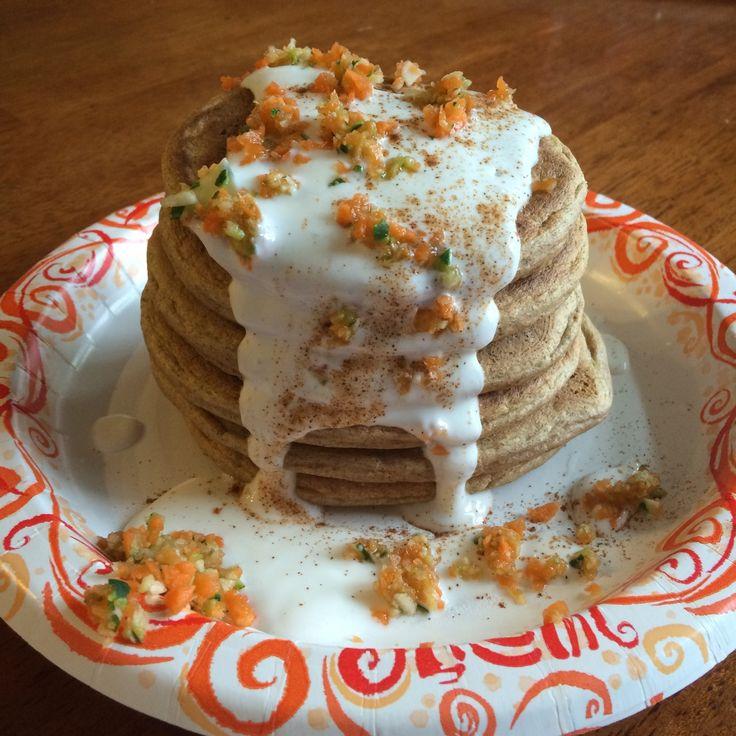 Zucchini Carrot Cake Protein Pancakes! | fat girl skinny bones | Pint ...