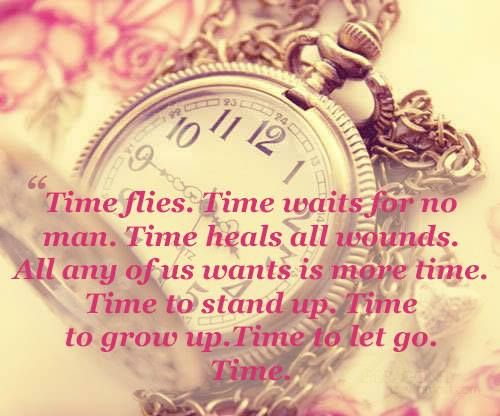 """cracks time disappears""""... 