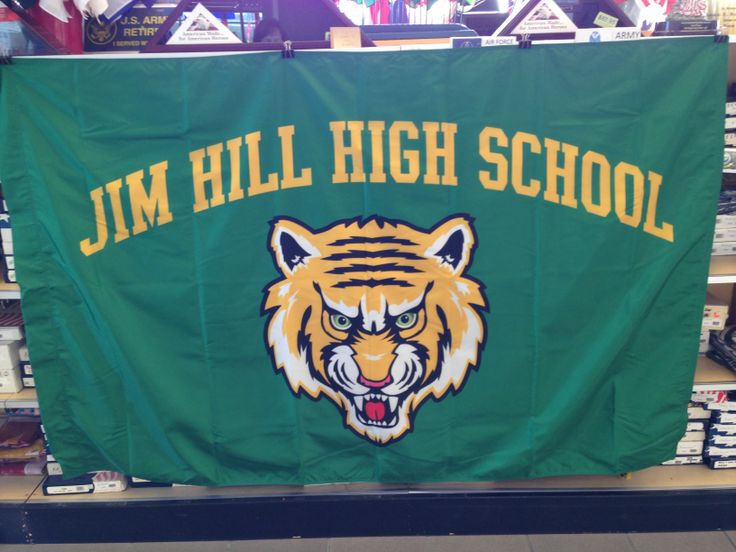Custom made Jim Hill High School flag. | Custom Items | Pinterest: pinterest.com/pin/536491374333025349