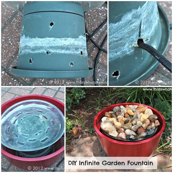 Diy Garden Fountain Gardening Ideas Pinterest