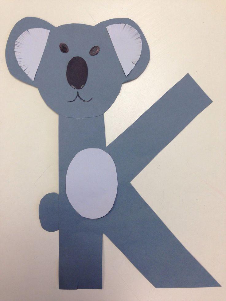for koala preschool k crafts children k crafts alphabet crafts